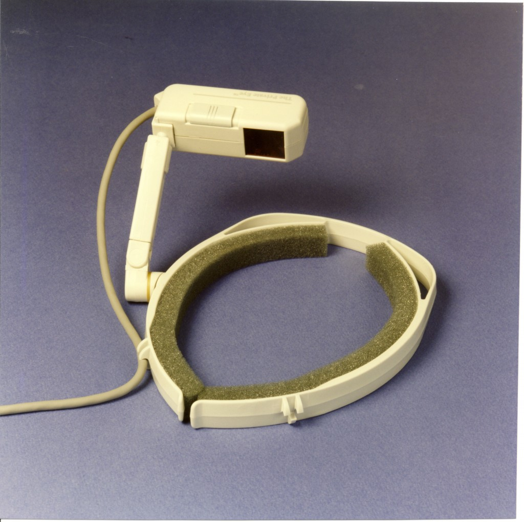 """""""Private-Eye"""" Head-mounted display by Reflection Technologies, 1989"""